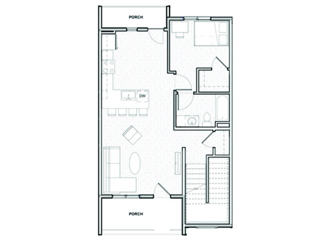 4x4 Town Home 1st Floor