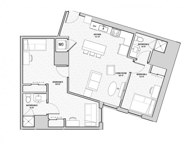 2x2 Large Penthouse Shared Private A