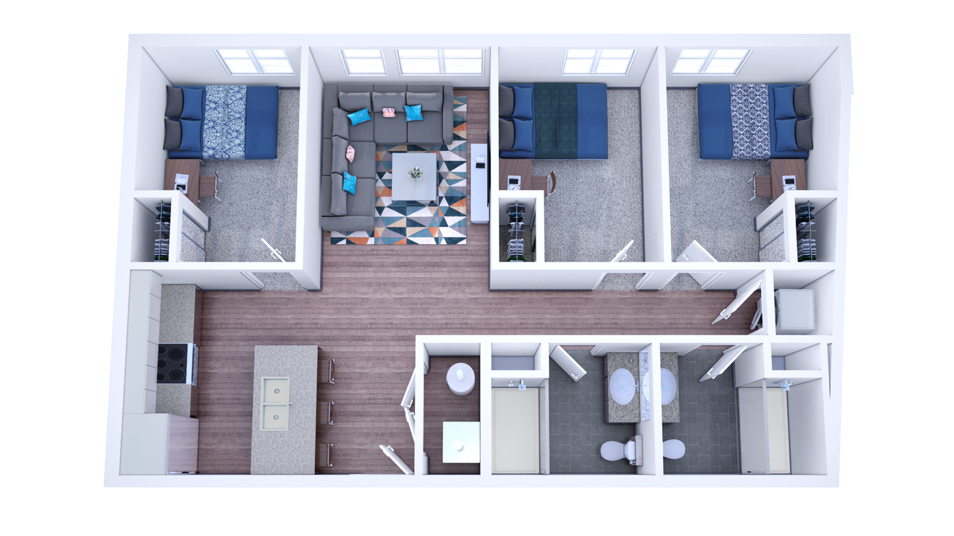 3 X 2 Premium 3 Bed Apartment Student Housing Evolve Siu