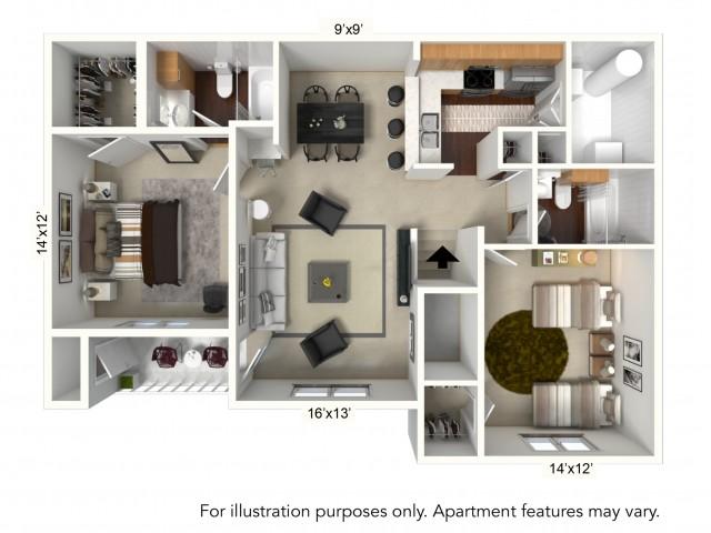Floor Plan 3 | Apartments For Rent | Renaissance Place Apartments
