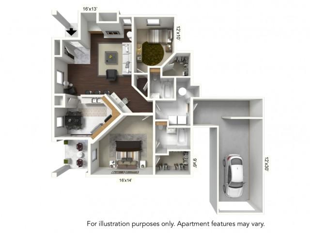 Floor Plan 9 | Renaissance Apartments Williamsville Ny | Renaissance Place Apartments