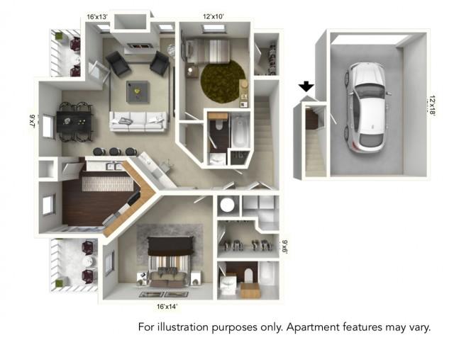Floor Plan 13 | Apartments For Rent | Renaissance Place Apartments