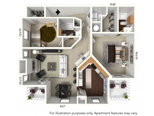Floor Plan 11 | Apartments For Rent In Williamsville Ny | Renaissance Place Apartments