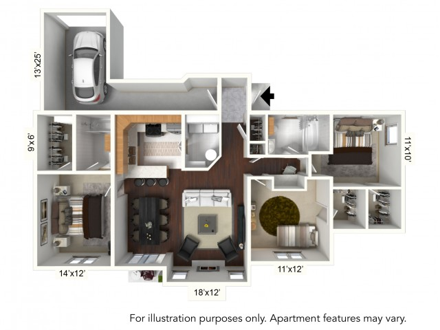 Floor Plan 22 | Williamsville Apartments | Renaissance Place Apartments