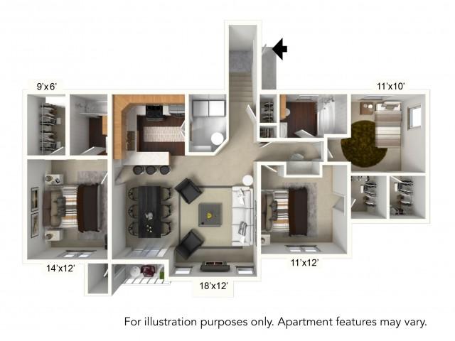 Floor Plan 23 | Apartments For Rent | Renaissance Place Apartments
