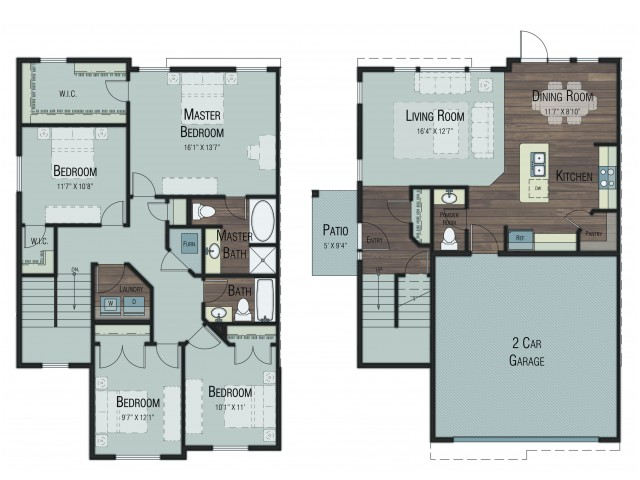 4 bedroom 2.5 bathroom Darlington Select floor plan