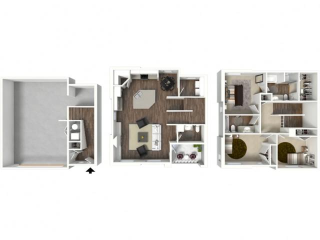 3 Bed 2.5 Bath Canyon Floor Plan