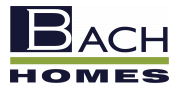 Bach Homes logo with no background