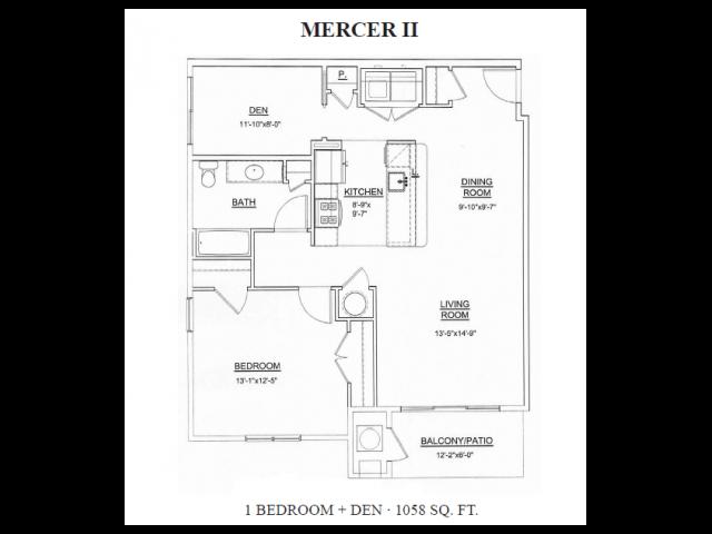 Floor Plan 1 | Apartments For Rent In Ewing NJ | Heritage Court