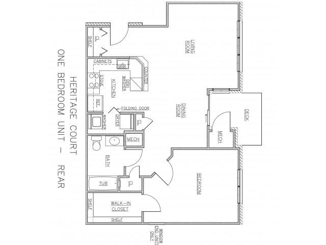1 Bedroom Floor Plan | Apartments In Ewing NJ For Rent | Heritage Court