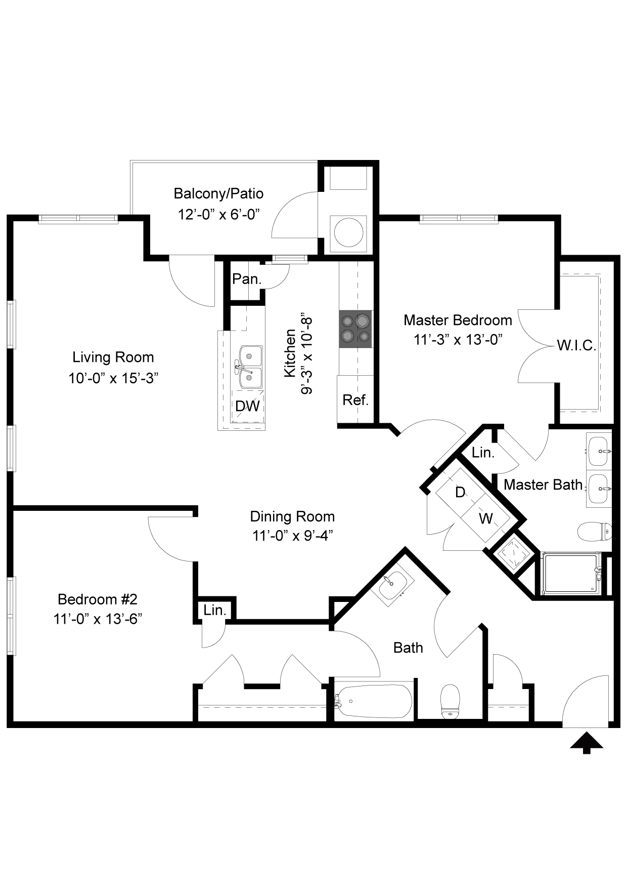 2 Bedroom Floor Plan | Palmer View