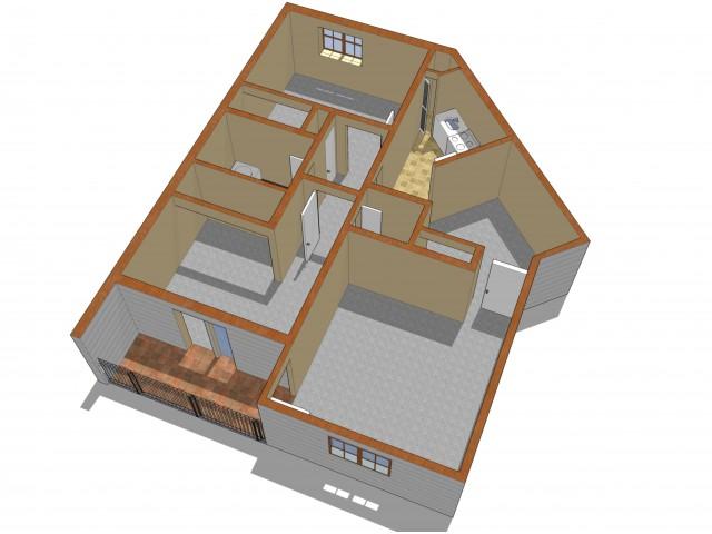 2 Bedroom Floor Plan | Crossings at Glassboro | RU Apartments Glassboro NJ