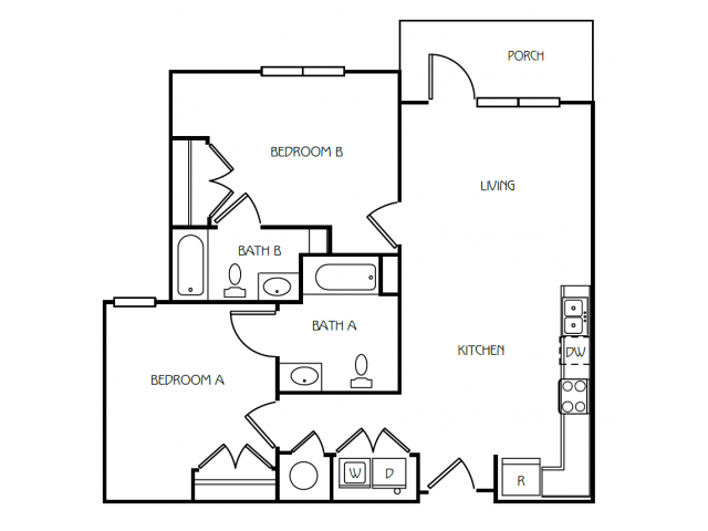2 Bedroom / 2 Bathroom