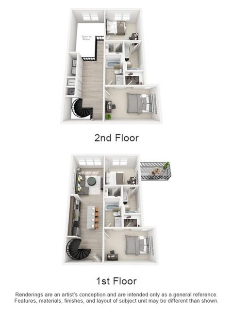 Floor Plan 2 | texas state university housing | Vie Lofts at San Marcos