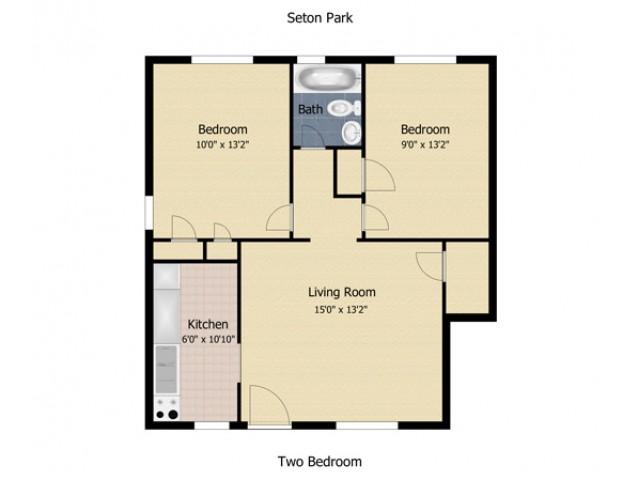 2 Bedroom First Floor