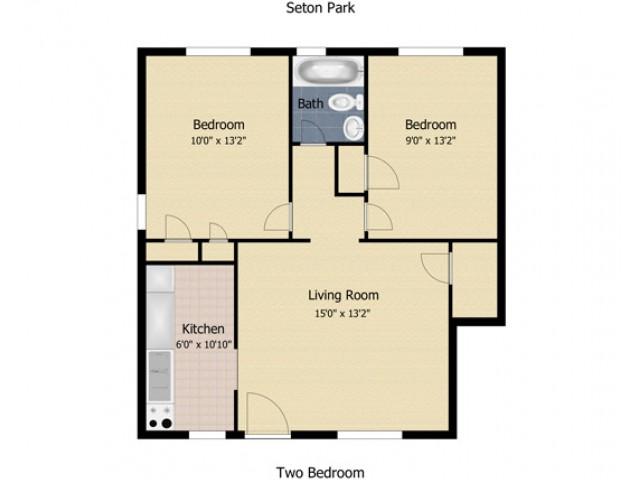 2 Bedroom Second Floor