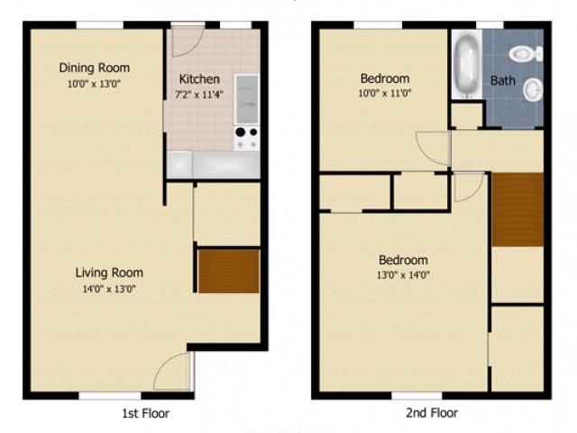 2 Bedroom Townhome