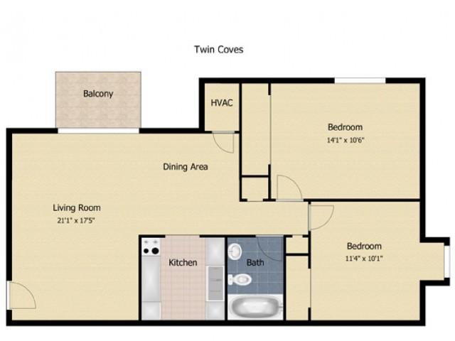 2 Bedroom Deluxe Apartment