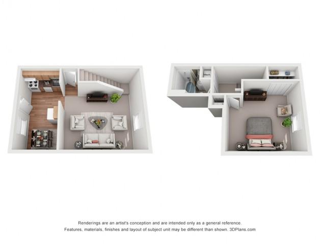 1 Bedroom Deluxe Townhouse