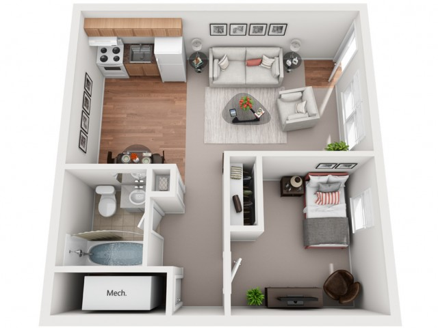 1 Bedroom Private