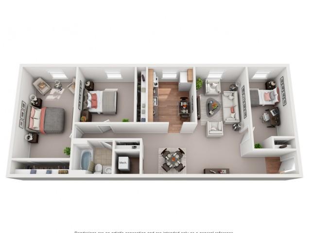 3 Bedroom Split