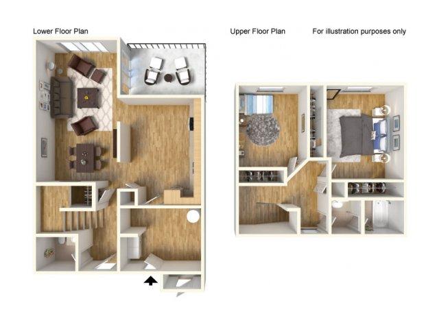 Floor Plan 3 | Schofield Barracks Hawaii | Island Palm Communities