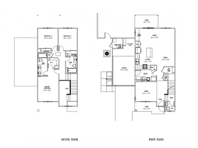 3 Bedroom Floor Plan | Schofield Barracks Housing | Island Palm Communities