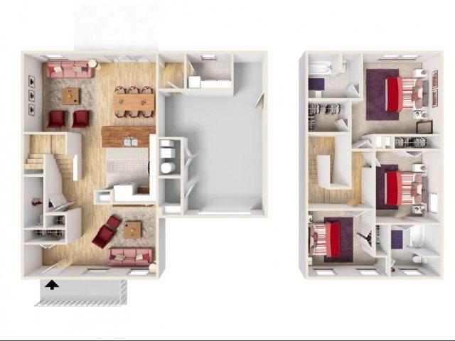 Floor Plan 9 | Fort Knox Military Housing | Knox Hills