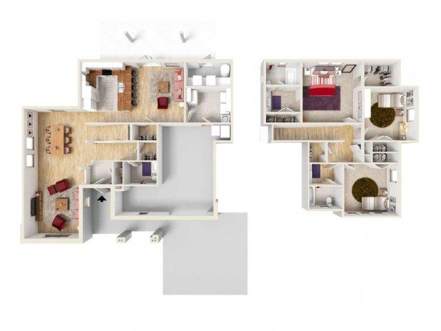 Floor Plan 14 | Fort Knox Military Housing | Knox Hills