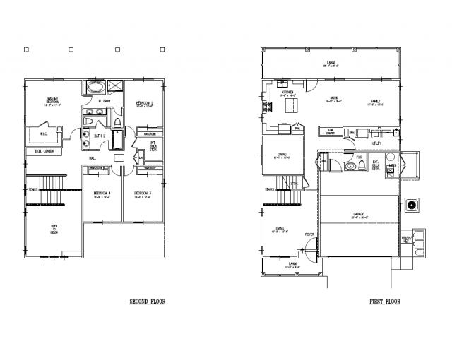 4-Bedroom Senior Officer Home on Ft Shafter, Radar Hill, FTSH, floor plan