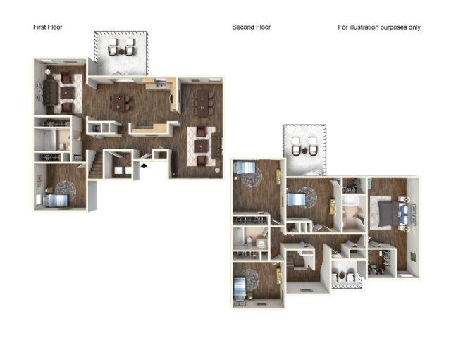 Floor Plan 14 | Fort Hood Family Housing | Fort Hood Family Housing