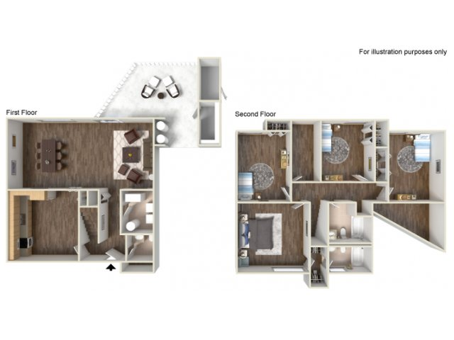 Floor Plan 15 | fort hood texas housing | Fort Hood Family Housing