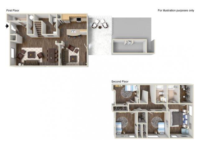Floor Plan 16 | Fort Hood Housing | Fort Hood Family Housing