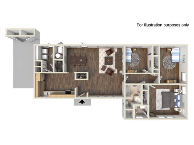 Floor Plan 6 | Fort Hood Housing | Fort Hood Family Housing
