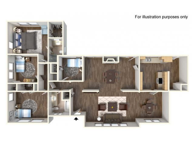 Floor Plan 7 | fort hood housing floor plans | Fort Hood Family Housing
