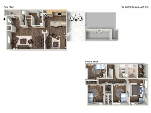 Floor Plan 17 | fort hood housing floor plans | Fort Hood Family Housing