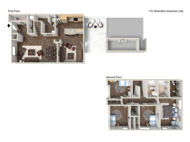 Floor Plan 18 | Ft Hood Housing | Fort Hood Family Housing
