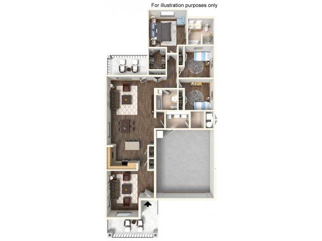 Floor Plan 8 | Ft Hood Housing | Fort Hood Family Housing