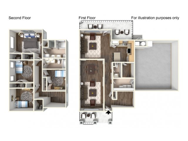 Floor Plan 19 | Fort Hood Family Housing | Fort Hood Family Housing