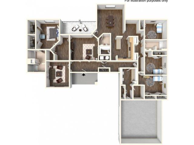Floor Plan 20 | fort hood texas housing | Fort Hood Family Housing