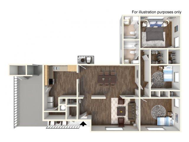 Floor Plan 9 | Fort Hood Family Housing | Fort Hood Family Housing