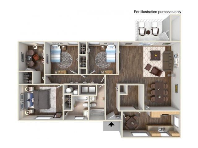Floor Plan 11 | Fort Hood Housing | Fort Hood Family Housing