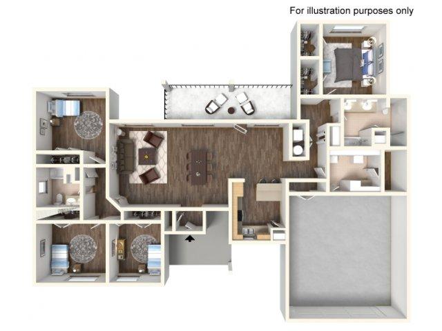 Floor Plan 22 | fort hood housing floor plans | Fort Hood Family Housing
