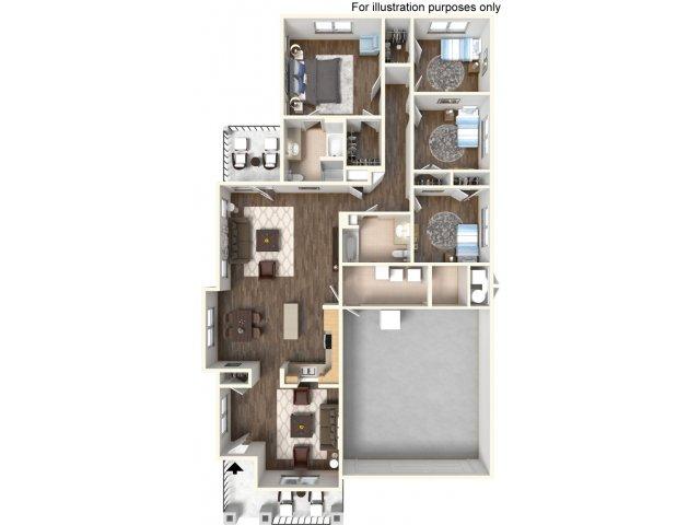 Floor Plan 23 | Ft Hood Housing | Fort Hood Family Housing