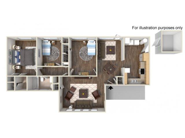Floor Plan 13 | Ft Hood Housing | Fort Hood Family Housing
