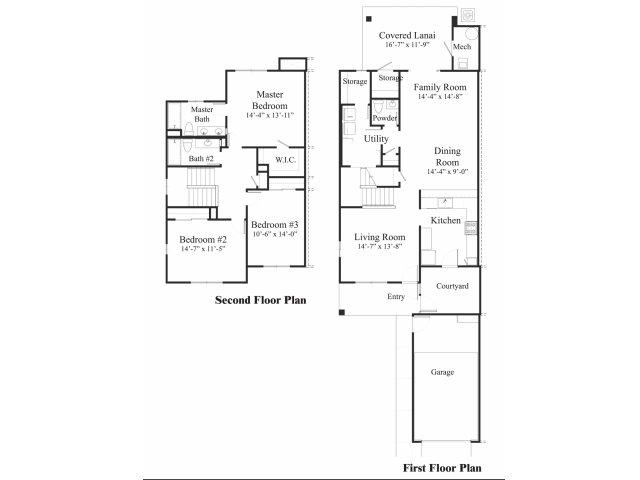 3 Bedroom Floor Plan | pearl harbor hickam housing | Hickam Communities