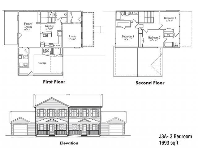 Three bedroom JNCO floor plan | apartment rentals watertown ny