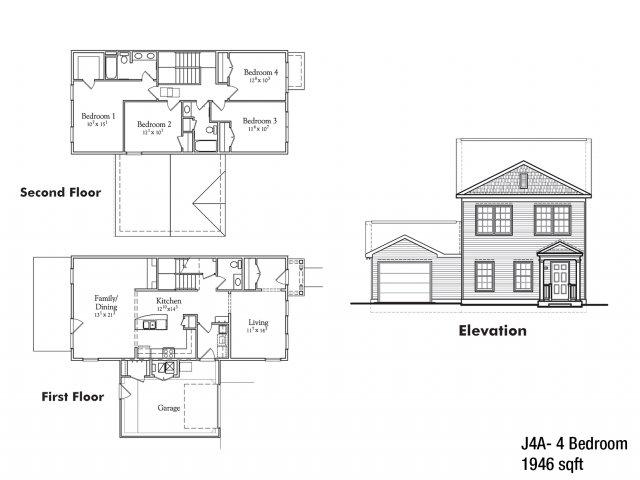 Four bedroom JNCO floor plan | fort drum apartments
