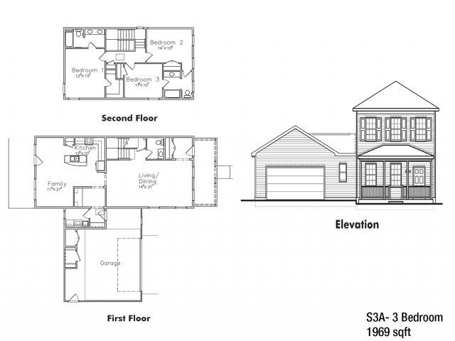 CGO 3 BDRM Floor Plan | Ft Drum Housing