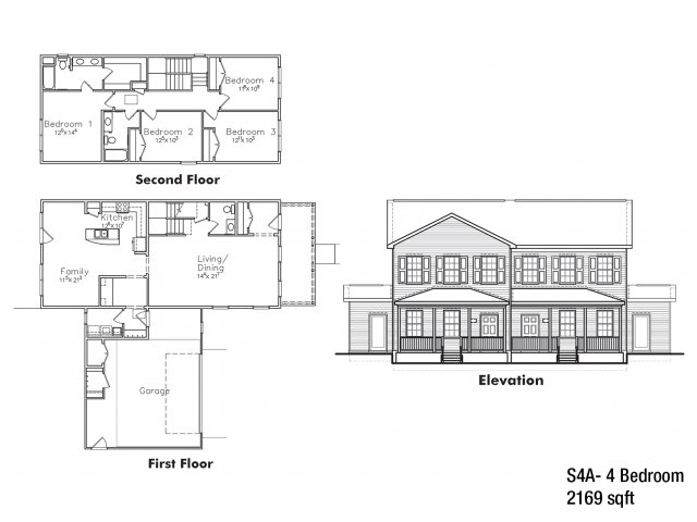 Company Grade 4 BDRM Floor Plan | On Base Housing Fort Drum